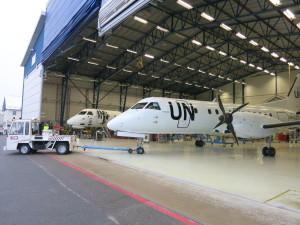 Two Air Urga Saab 340s arrive to TAM