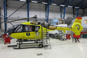 Värmland´s County Council HEMS helicopter in for maintenance