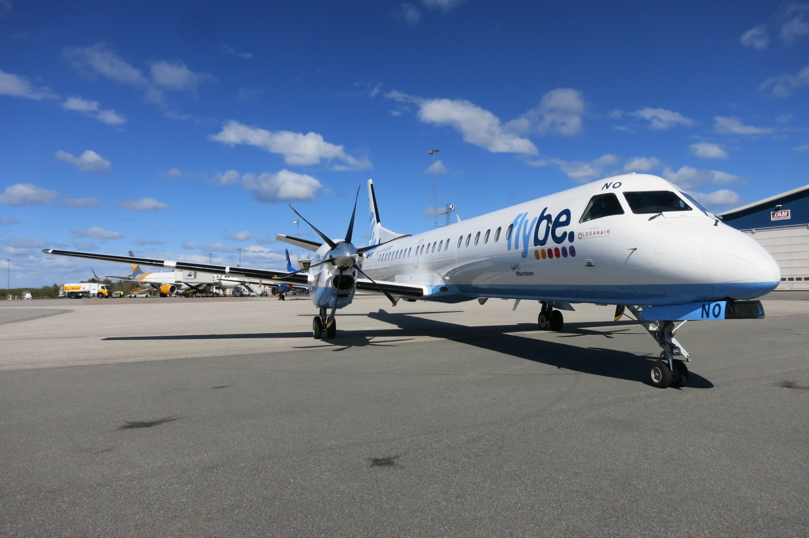 Loganair SAAB 2000 delivered two days in advance
