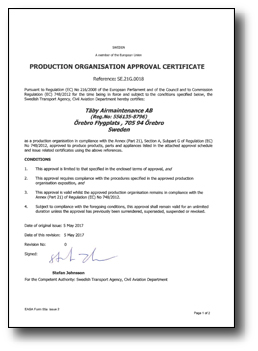 EASA-Production-Organisation-Approval